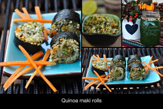 quinoa maki rolls