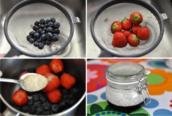home made berry jam with agar agar