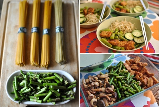 soba noodles with tempeh and veggies