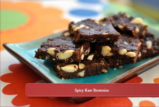spicy raw brownies