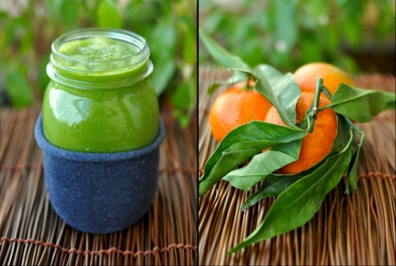green smoothe with turmeric