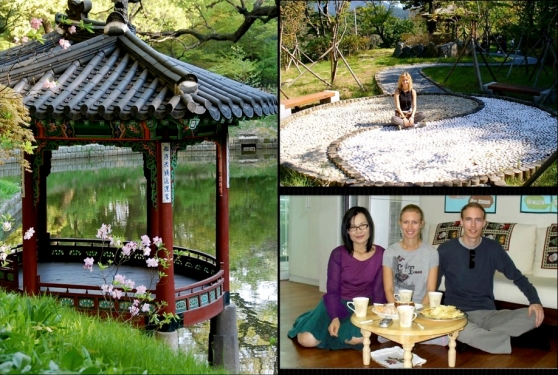 sitting on the floor